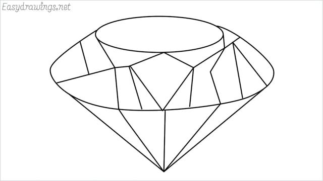 How to draw a diamond step by step