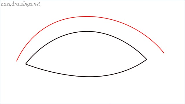 How to draw a eye example 2 step (3)