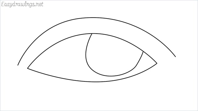 How to draw a eye example 2
