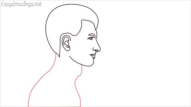 How to draw a face step (10)