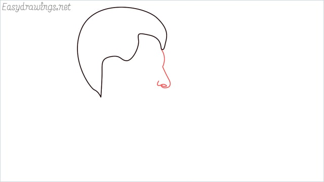 How to draw a face step (3)