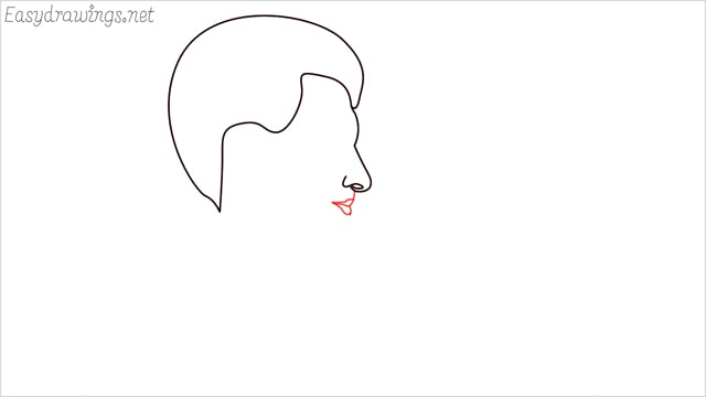 How to draw a face step (4)