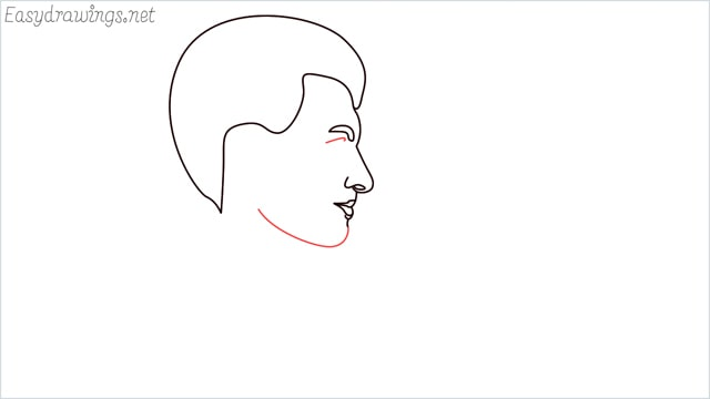 How to draw a face step (6)