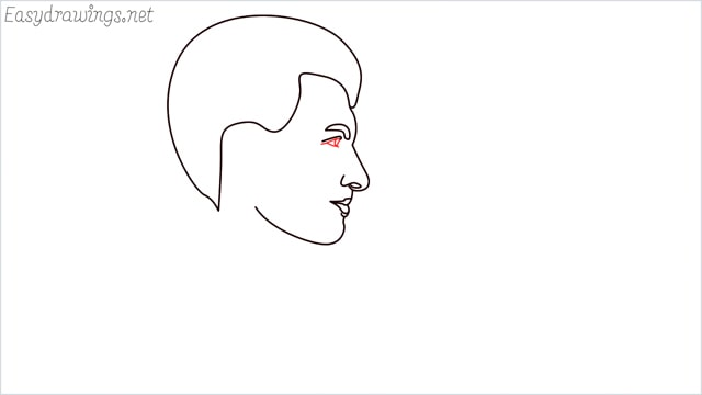 How to draw a face step (7)