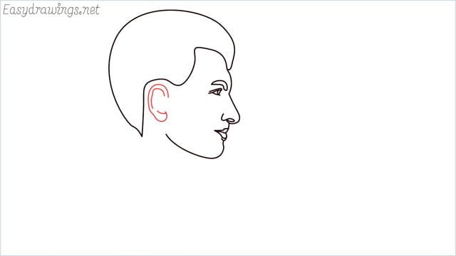 How to draw a face step (8)