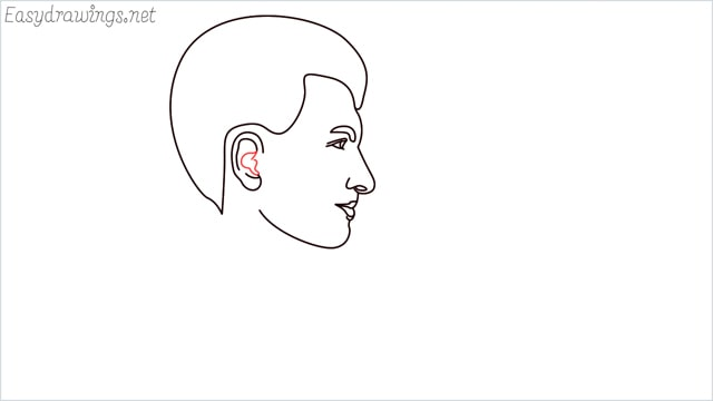 How to draw a face step (9)