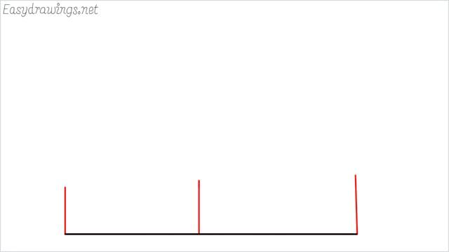 How to draw a farmhouse step (2)