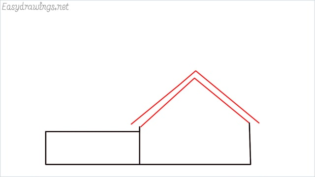 How to draw a farmhouse step (4)