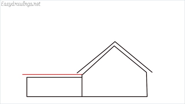How to draw a farmhouse step (5)