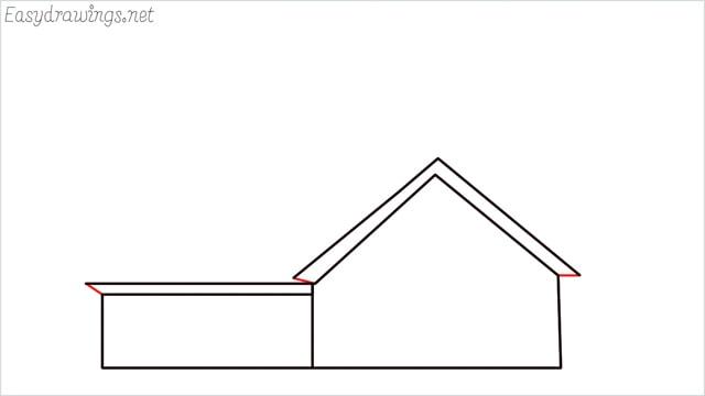 How to draw a farmhouse step (6)