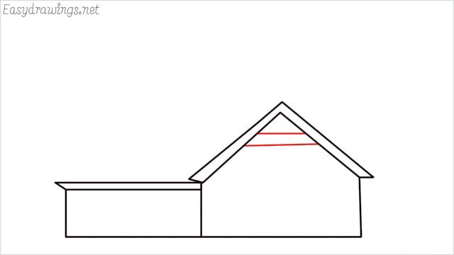 How to draw a farmhouse step (7)