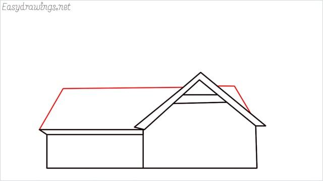 How to draw a farmhouse step (8)
