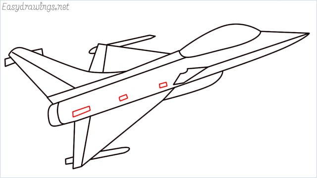 How to draw a fighter jet step (10)