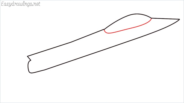 How to draw a fighter jet step (3)