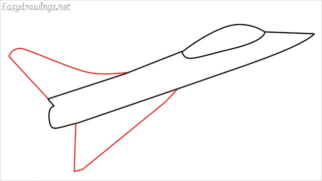 How to draw a fighter jet step (4)