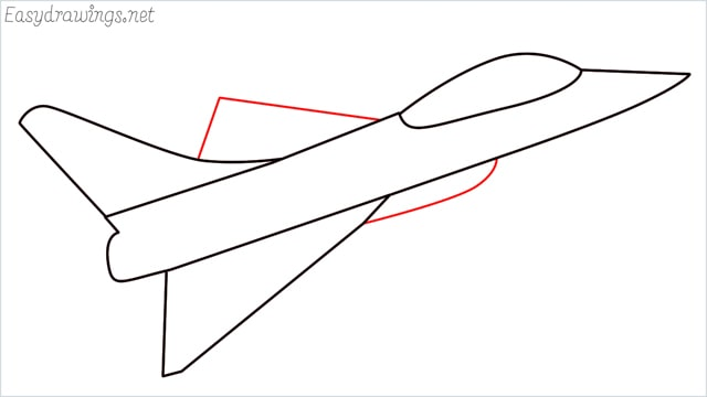How to draw a fighter jet step (5)
