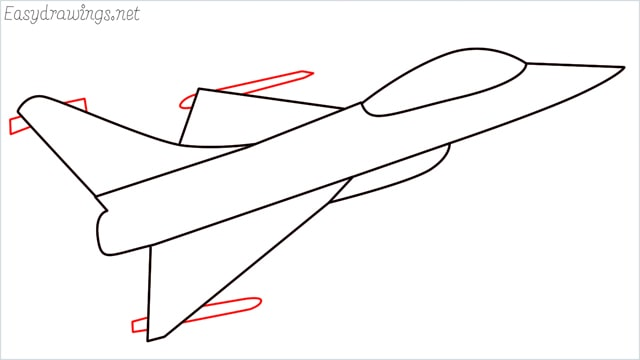 How to draw a fighter jet step (6)