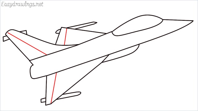 How to draw a fighter jet step (7)
