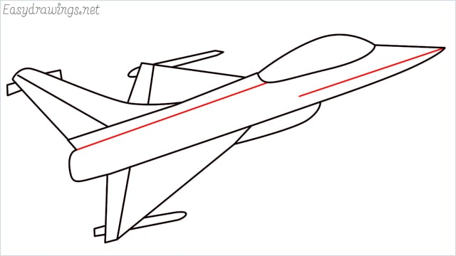 How to draw a fighter jet step (8)