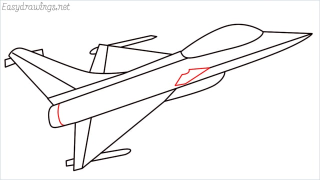 How to draw a fighter jet step (9)