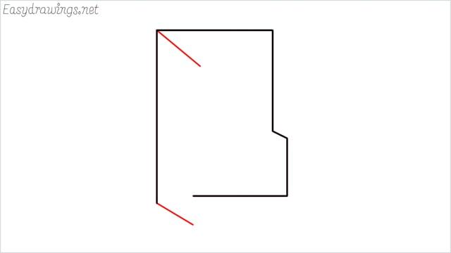 How to draw a folder step (5)