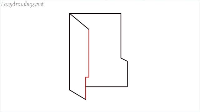 How to draw a folder step (6)