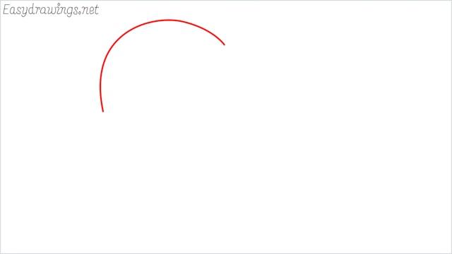 How to draw a heart shape step (1)