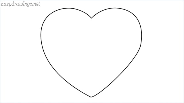How to draw a heart shape step by step