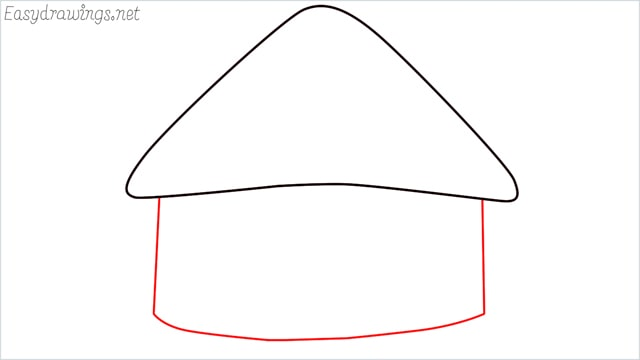 How to draw a hut step (3)