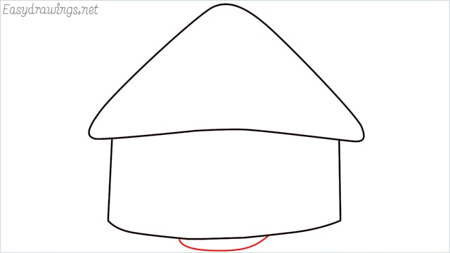 How to draw a hut step (4)