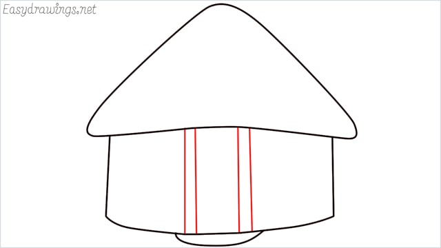 How to draw a hut step (5)