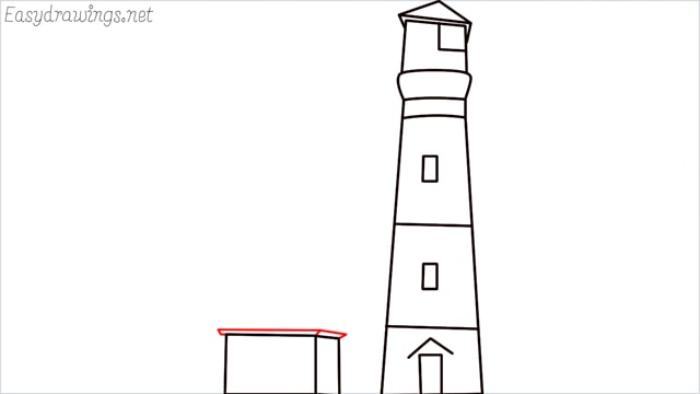 How to draw a lighthouse step (10)