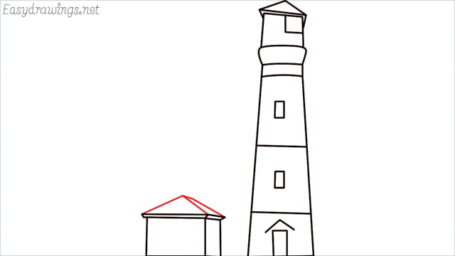How to draw a lighthouse step (11)