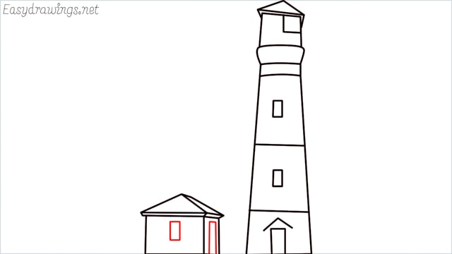 How to draw a lighthouse step (12)
