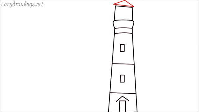 How to draw a lighthouse step (6)