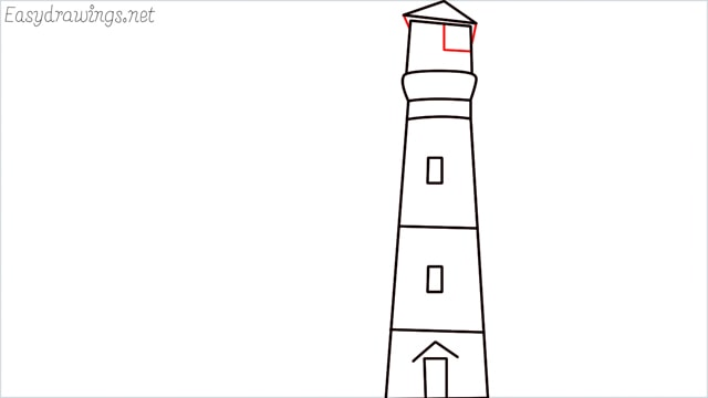 How to draw a lighthouse step (7)
