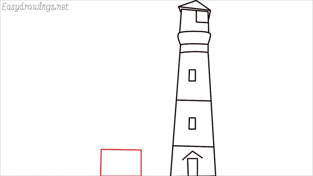 How to draw a lighthouse step (8)