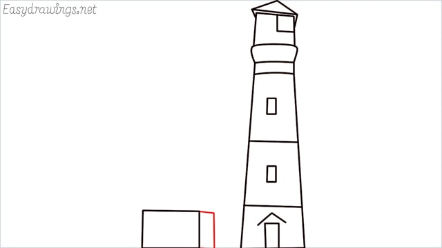 How to draw a lighthouse step (9)