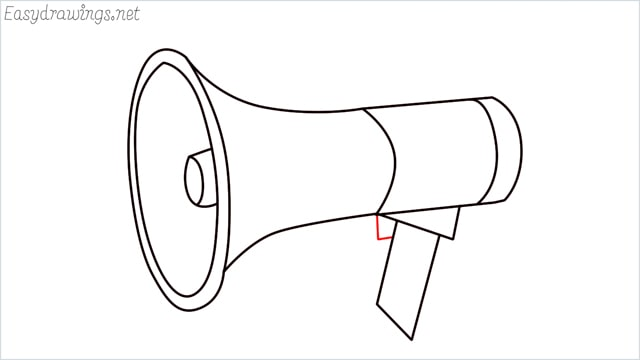 How to draw a megaphone step (10)