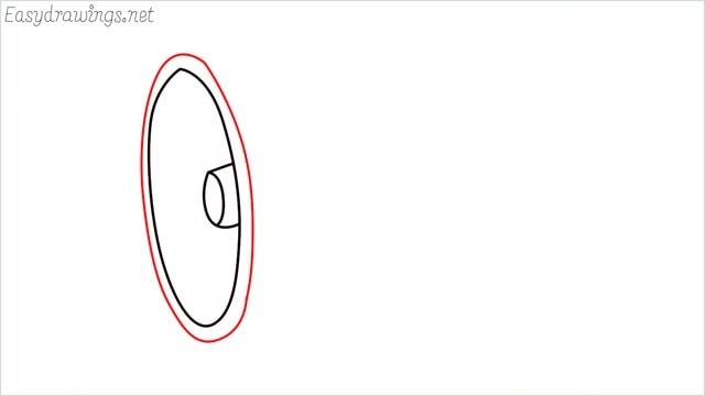 How to draw a megaphone step (4)