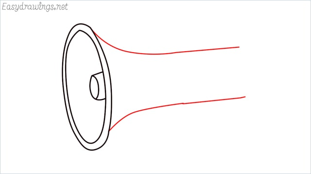 How to draw a megaphone step (5)