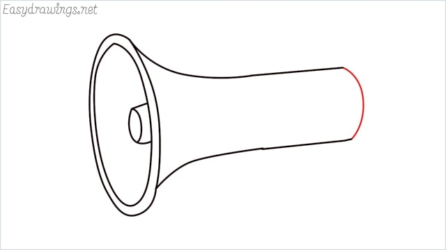 How to draw a megaphone step (6)
