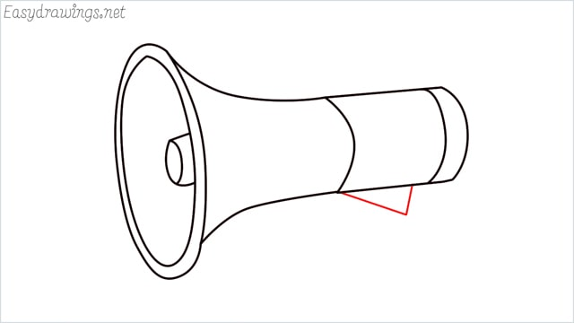 How to draw a megaphone step (8)