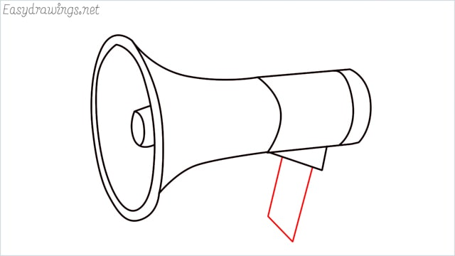 How to draw a megaphone step (9)