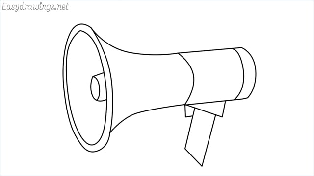 How to draw a megaphone step by step