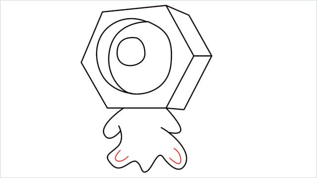 How to draw a meltan step (10)