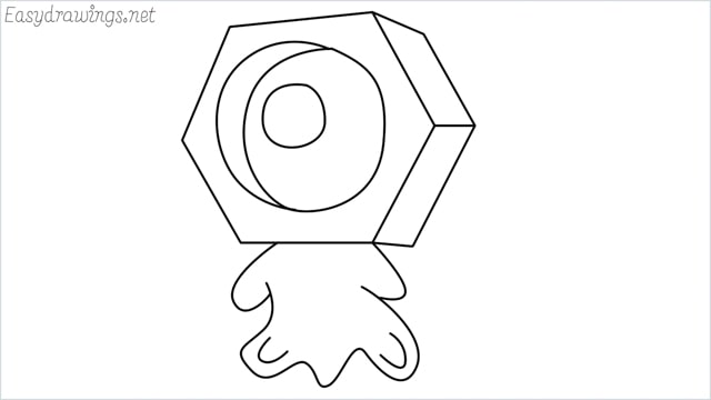 How to draw a meltan step by step