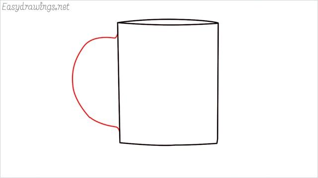 How to draw a mug step (4)
