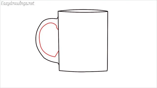 How to draw a mug step (5)