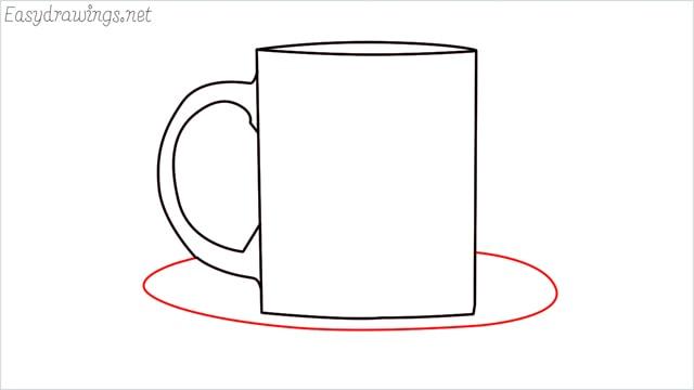 How to draw a mug step (6)